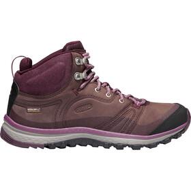 Keen W's Terradora Leather WP Mid Shoes peppercorn/wine